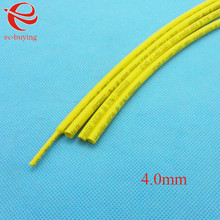 Heat Shrink Tube Yellow Tube Heat-Shrink Tubing Diameter 4mm Thermo Jacket Wire Wrap Insulation Materials Element 1meter /lot