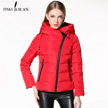 Pinky Is Black Womens Winter Jackets And Coats Hooded Down Cotton Padded Parkas For Women's Winter Coat Female Manteau Femme