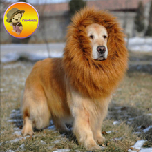 New Arrival Big Pet Hairpiece hat Costume Cat Halloween periwig hair Fancy Mane Lion Mane Wig For Dogs Festival Dress Up