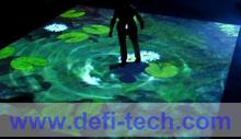 DEFI interactive floor/wall system,The ability to expand , projector , projection shape