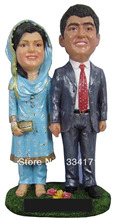 Personalized bobblehead doll India wedding gift wedding decoration fixed polyresin body + polyresin head