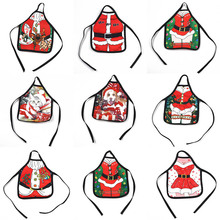 2017 Party Supplies Christmas Santa Wine Bottle Apron Cover Wrap Xmas Dinner Party Table Decor 1 PCS(China)