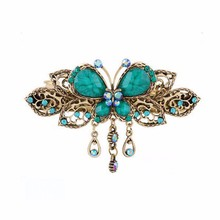 1X Vintage Butterfly Hair Clips Hairpins Hair Clip Beauty Tools Jewelry Retro butterfly hairpin Elegant ladies Headwear #GH20(China)