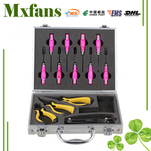 Mxfans 13PCS Silver T10001 Alloy RC Screwdriver Pliers with Case for All Scale RC Car