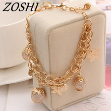 ZOSHI Fashion Gold Color Bracelets For Women Simulated Pearl Jewelry Charm butterfly Pendant Bracelets Bangles Luxury Jewlery