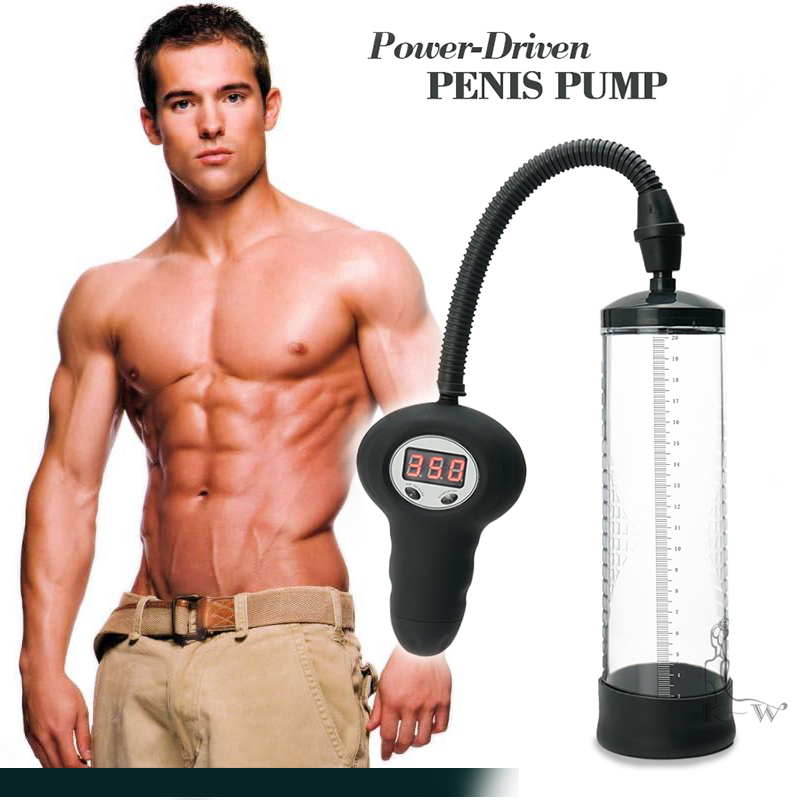 CANWIN Sleeve Sex Canwin Hot Electric Pump Digital Vacuum Extender Penis Enlargement Increase Exercise Male Sex Product Men 45%[<br>