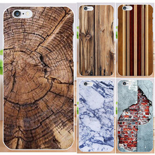 Hot Selling Fundas For iPhone4 4S Print Wood Fashion Marble PC Hard Phone Case For iPhone 4 4S Case back cover skin shell(China)