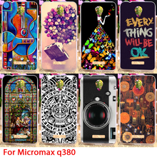 TAOYUNXI Soft TPU Painted Phone Case For Micromax Canvas Spark Q380 Cute Girls Flowers Guitar Camera Protectors Hood Skin Bags(China)