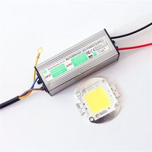 1Set High Power 10W 20W 30W 50W 100W Full Watt COB LED Lamp Chips for DIY Flood Light Spotlight + Waterproof LED Driver + Remote