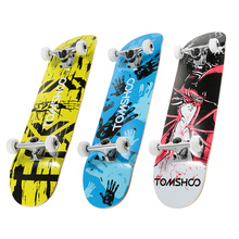 "TOMSHOO 31"" Skateboard Pro Complete Printing Street Graffiti Style Skateboard Maple Wood Retro Cruiser Longboard Skate Board(China)"