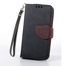 Luxury Leaf Leather Wallet Cover Case For Samsung Galaxy S Duos S7562 GT-S7562 gt 7562 Trend Plus S7580 S7582 GT-S7580 GT-S7582