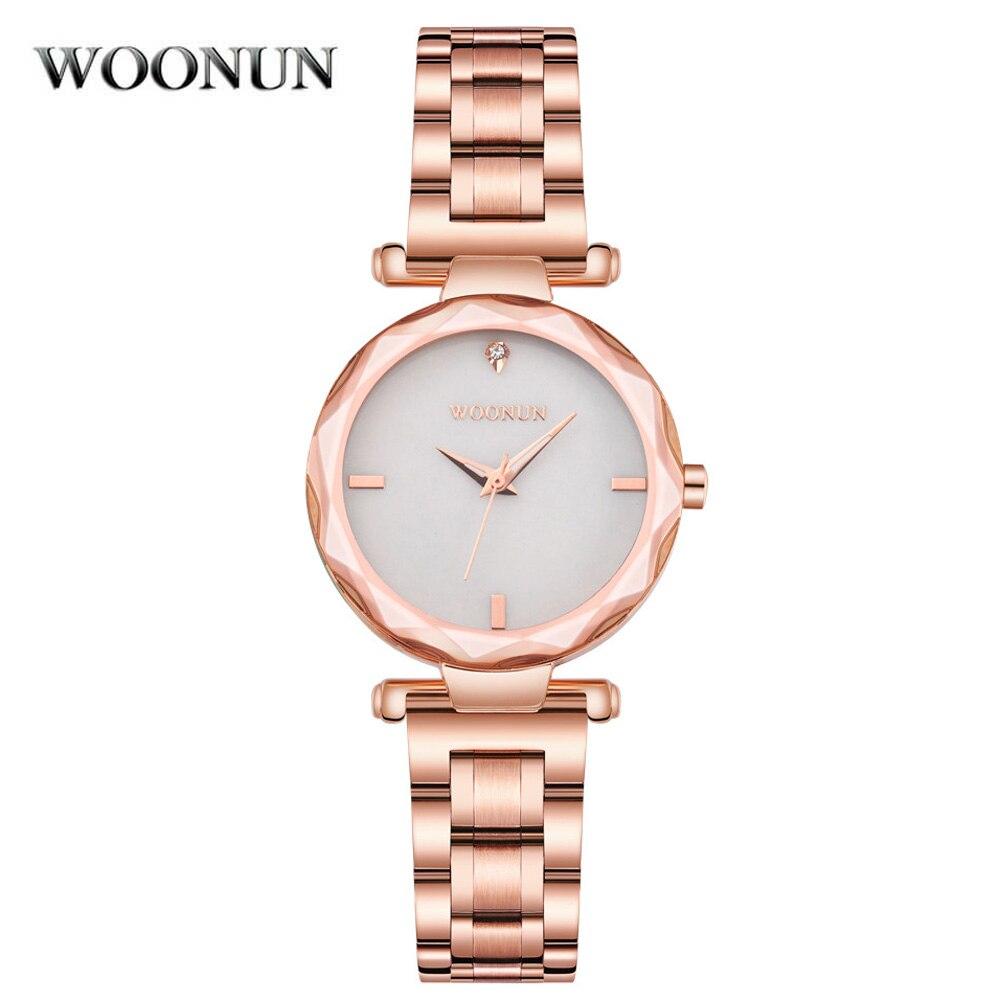 New 2017 Ladies Girls Watches Waterproof Quartz Rose Gold Watches For Women Luxury Fashion Dress Wrist Watches reloj mujer Brand<br>