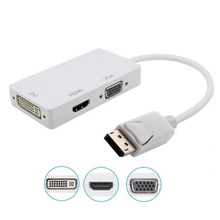HD 1080p 3 in 1 Display Port DP Male to VGA HDMI DVI  Female Adaptor Adapter Converter Connector For PC Laptop