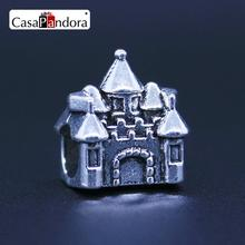 CasaPandora Fashion European 925 Plated House Home Castle Fit Bracelet Charm DIY Jewelry Making
