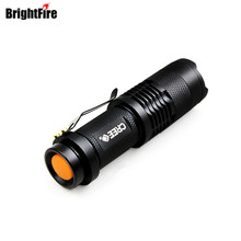Cree Q5 Waterproof 3 Modes Mini Bright Zoomable LED Flashlight lantern Torch light Lanterna(China)