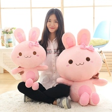 Big Size 45cm/65cm Angel Rabbit Plush Toy MoMo Pink Rabbit Stuffed Animal Doll Pillow Decoration Kids Children Birthday Gift