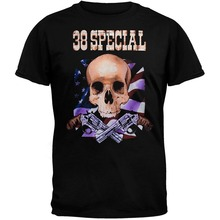 2018 Cool Funny T Shirt High Quality Tees 38 Special - Skull Flag Guns 07 Tour T-Shirt Summer Style T shirt(China)