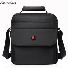 Soperwillton Men's Bag Totes Men Messenger Bags Brand 2017 Fashion Soft Handle Handbag Shoulder Crossbody Bag Male Black #1057(China)