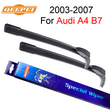 QEEPEI Wiper Blade For Audi A4 B7 2003-2007 22''+22'' High Quality Iso9000 Natural Rubber Clean Front Windshield CPF101-1(China)