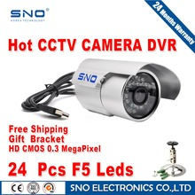 2016 SNO Outdoor/Indoor Metal Housing IR Security USB Digital CCTV Camera USB to PC Surveillance for Home Office Max 64GTF card