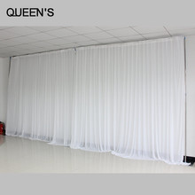 Ice Silk Simple White Wedding Backdrop Background for Wedding Party Decoration