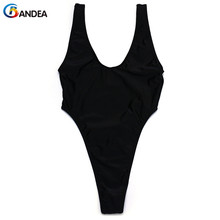 Buy BANDEA solid swimwear sexy women swimwear thong bathing suit beach wear high cut one piece swimming suit backless monokini