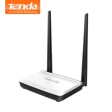 Tenda N300 300Mbps Wireless WiFi Router, Repeater/Router/WISP/ Client+ AP Bridge Mode,IP QoS, Multi Language Firmware,Easy Setup(China)