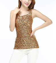 Sleeveless Formal Sequin Embellished Sparkle Glitter Cocktail Club Party Wear Cowl Neck Tank Top Vest Womens Ladies Evening Wear