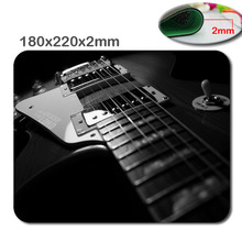 Qrint 180 x220x2mm Abstract Music Les Paul Guitars Customized Rectangle Rubber Gaming Mouse Pad - Durable Office Accessory Gift