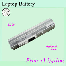 "White Laptop battery For MSI Wind U100 U100X U90 For  Advent 4211 E1210 X110 10"" UMPC  Notebook battery"