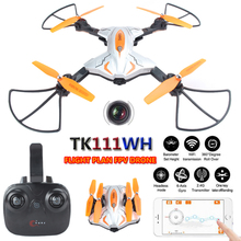 Buy TK111WH Drones Camera HD Dron Flight Plan Mode FPV Quadcopter WIFI Quadrocopter 2.4G 6 axis RC Helicopter Helicoptero for $55.28 in AliExpress store