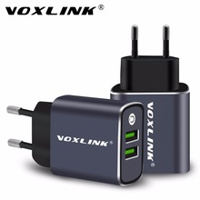 Buy VOXLINK Dual Ports Usb Charger Wall Charger 5V3.1A EU Plug Travel USB Charger Mobile Phone Charger iPhone Samsung Xiaomi LG for $7.49 in AliExpress store