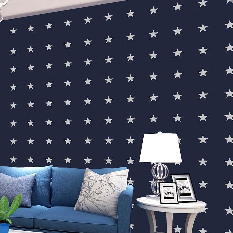 Beibehang Home decoration wallpaper British children bedroom bedroom living room wallpaper small fresh stars 3d wallpaper roll<br>