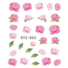 1 Sheets Hot Designs Pink Rose Beauty Designs Nail Decals DIY Women Beauty Watermark Sticker Nail Art Charm Flower TRSTZ052