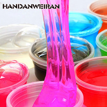 HANDANWEIRAN 1piece / lots 12 colors can be non-toxic blowing bubbles crystal mud clay can draw slime Funny Toys fun toys(China)