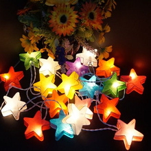 3M star love shape led string lights waterproof outdoor fairy night light for wedding Party Christmas tree decoration