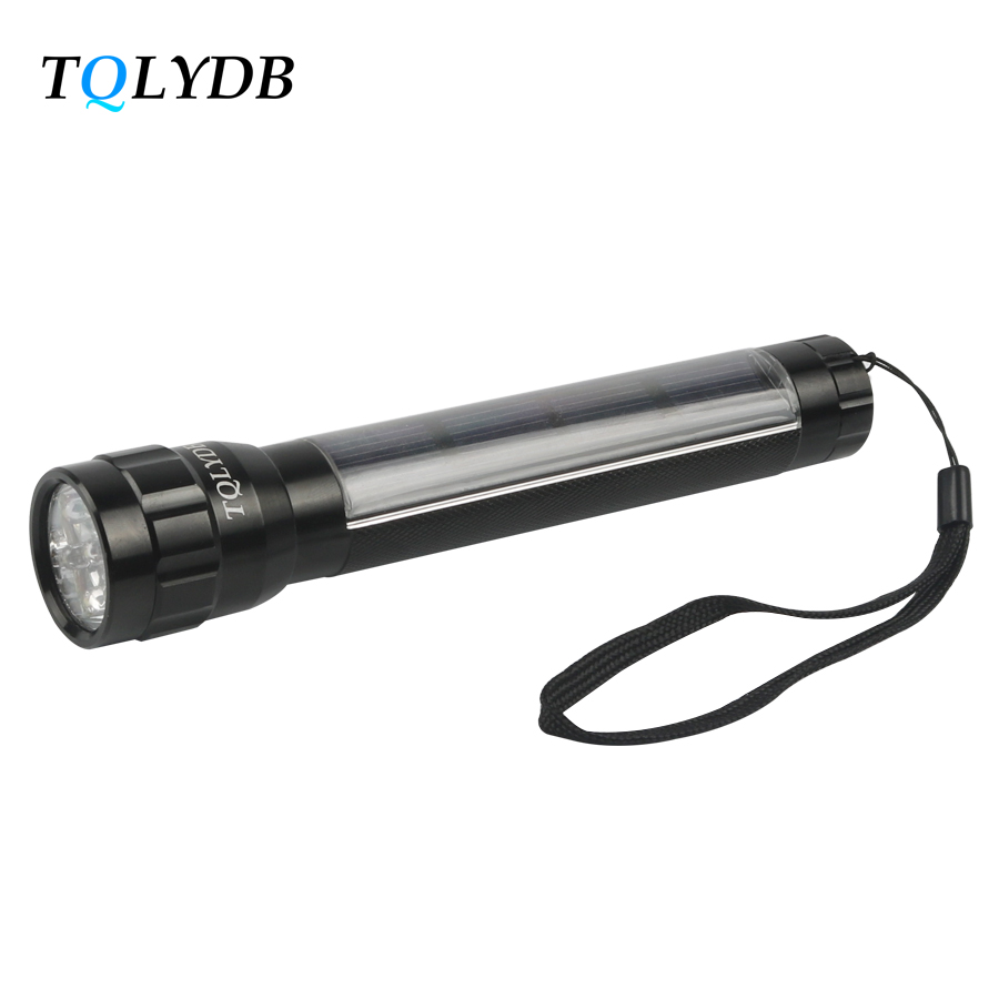 TQLYDB Solar Powered Led Flash Light Built-in Battery Solar Energy Led Torch Lights for Lighting Lamp Flashlights & Torches(China (Mainland))