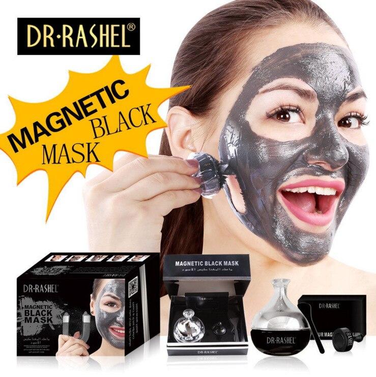 DR RASHEL Hot Selling Black Mud Magnetic Face Mask Skin Care Collagen Blackhead Remover Magnet Facial Mask<br>