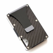 2017 RFID Men and Women Minimalist Metal Wallets Slim Mini Business Card Holder Aluminum Credit Card Protector(China)
