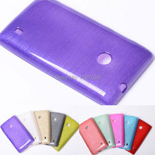 NEW Fashion high quality Gel candy colors Soft TPU Case for Nokia Lumia 520 wire drawing skin protector skin shell back Cover