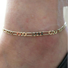 2016 European And American Trade Jewelry Gold Anklets Fashion Simple Wild Paragraph Miss Jin Zhu Anklet Chain Called Bare Chain