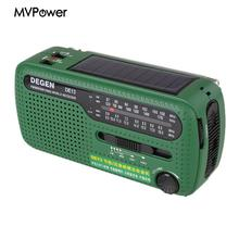 Emergency Hand Crank Solar FM/MW/SW Radio Flashlight Torch Phone Charger