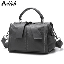 Bolish Brand Soft PU Leather Women Handbag Female Shoulder Bag Larger Size Tote Bag /women Messenger Bag(China)