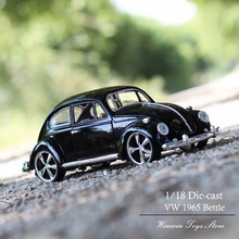 Free Shipping 1:18 Scale Car Model Toys Diecasts Metal Machine VW Beetle Collection Toys 1/18(China)