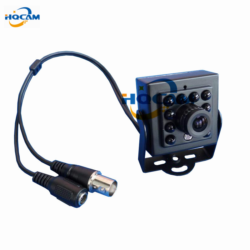 HQCAM CCD 600TVL CCTV security Camera Color 10pcs 940nm led Night Vision camera Indoor CCTV Mini ir camera security Camera <br>