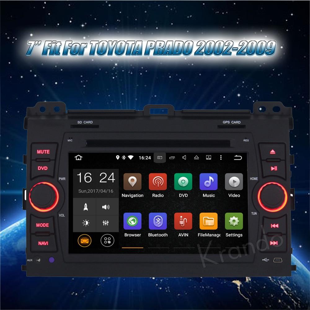 Krando android car stereo navigation system for toyota PRADO 2002-2009 car dvd player multimedia system (2)