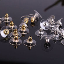 50 pcs/lot Alloy Earring Backs Bullet Stoppers Earnuts Ear Plugs Gold Silver Plated Findings Jewelry Accessories #JA005(China)