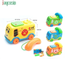 HIINST Best seller DROP SHIP  Baby Toys Music Cartoon Bus Phone Educational Developmental Kids Toy Gift New S55