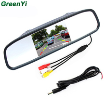 "4.3"" Digital TFT LCD Mirror Car Parking Rear View Monitor With 2 Video Input Connect  Rear / Front Camera Free Shipping Now"