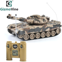 GizmoVine RC Tank  1/20 9CH 27Mhz Infrared RC Battle Tiger T90 Tank Cannon & Emmagee Remote Control Tank Fort Rotate Fighting